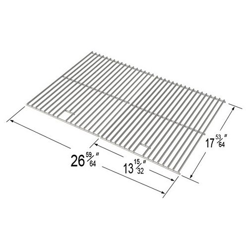 Stainless Steel Cooking Grid for , Perfect Flame, Uniflame and Great Outdoors Gas Grill Models
