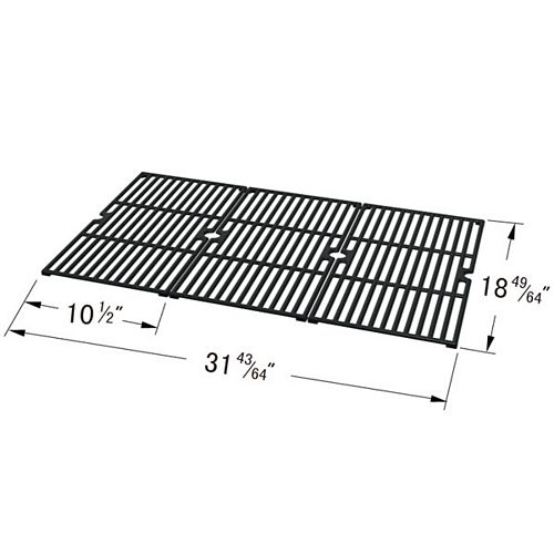Cast Iron Cooking Grid for , Master Forge, Outdoor Gourmet and Sams for Gas Grill Models