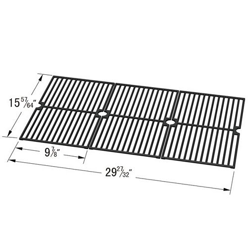 Cast Iron Cooking Grid for , Bond, Broil Chef, Jenn-Air, Perfect Flame and Vermont Castings for Gas Grill Models