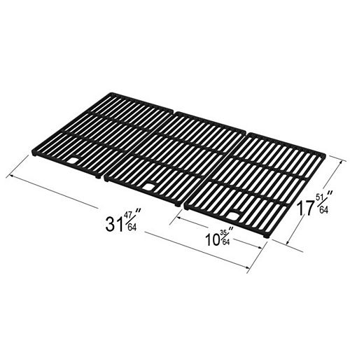 Cast Iron Cooking Grid for Bond, Broil Chef, Life @ Home, Master Chef, Master Forge, Perfect Flame, and President's Choice for Gas Grill Models