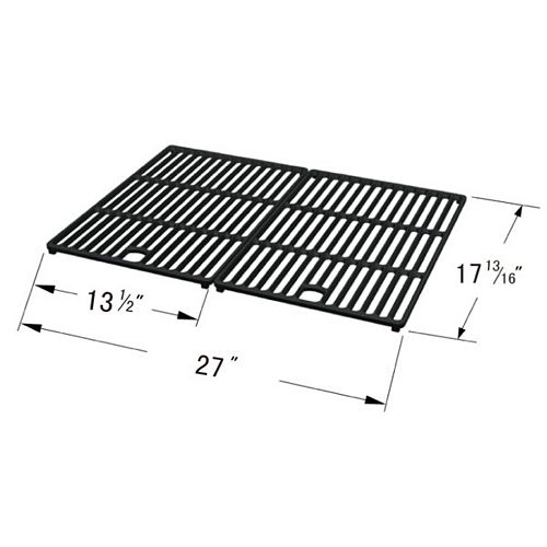 Cast Iron Cooking Grid for BHG, Bond, Great Outdoors, Life @ Home, Perfect Flame, and Uniflame for Gas Grill Models