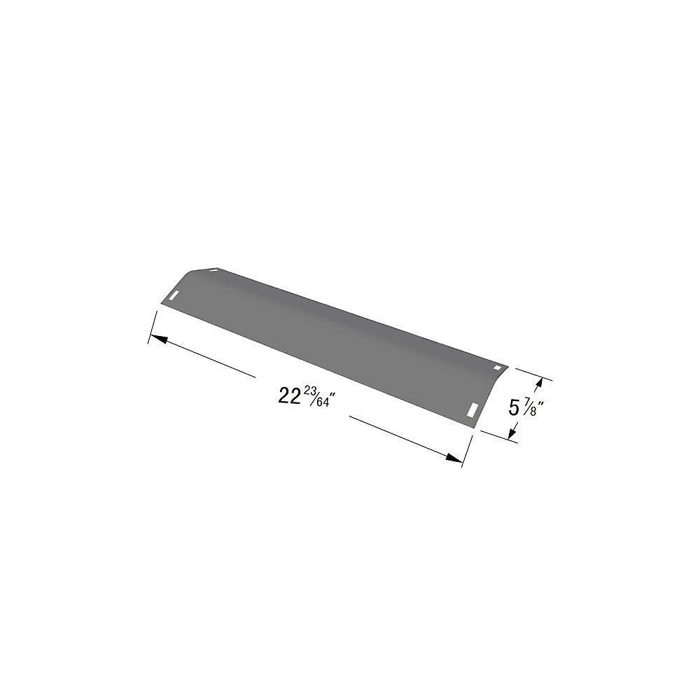 BBQTEK Plaque chauffante en acier inoxydable pour modèles de gril à gaz