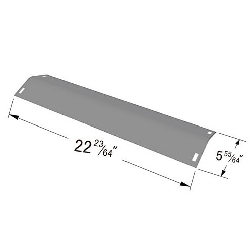 Stainless Steel Heat Plate for BBQ Grill ware, Charbroil, Kenmore, Master Chef and Thermos Gas Grill Models