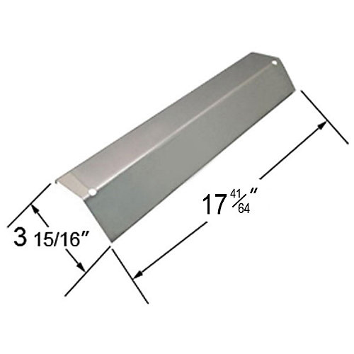 Stainless Steel Solid Heat Plate for President's Choice Gas Grill Models
