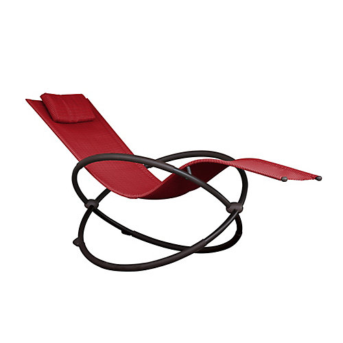 Orbital Lounger - Single (Cherry Red)