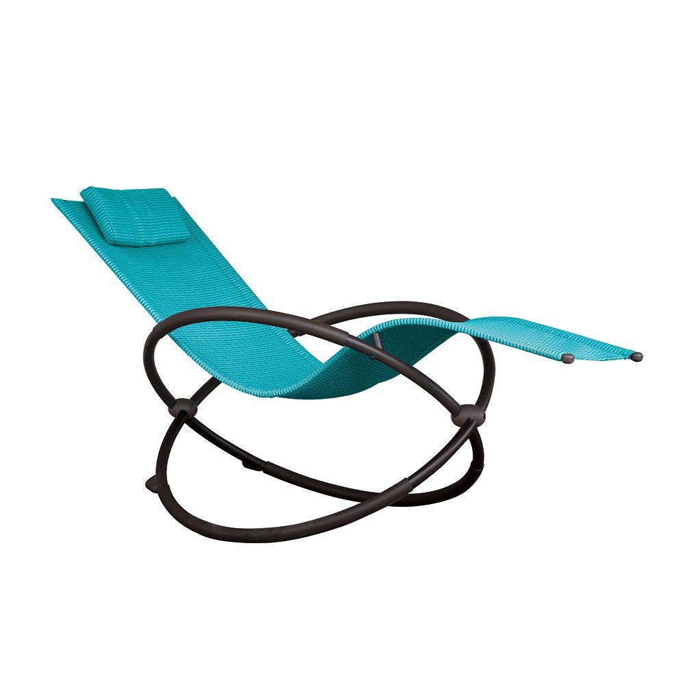 Vivere Orbital Lounger - Single (True Turquoise)