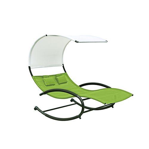 Double Chaise Rocker (Green Apple)