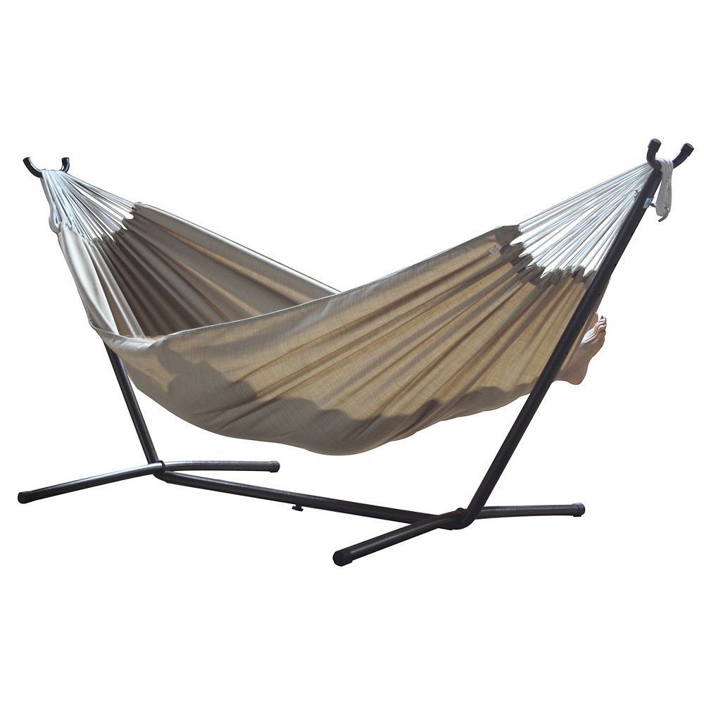 Vivere Vivere de Combo - sable Sunbrella<sup>®</sup> hamac avec support (9ft).