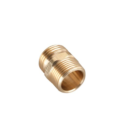 1/2-inch Brass Double Male Connector