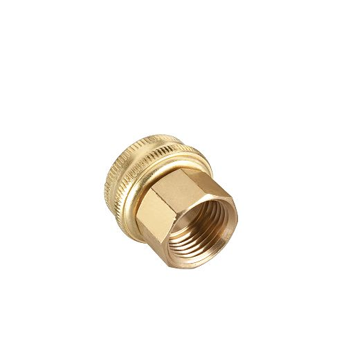 1/2-inch Brass Double Female Connector
