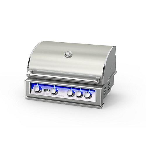 60,000 BTU 32-inch 5-Burner Stainless Steel Built-In Propane BBQ