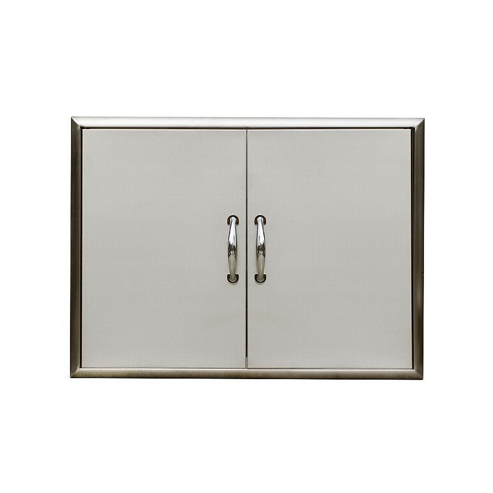 Broilchef 32''x24'' Outdoor Double Access Door Set-Bevelled Frame