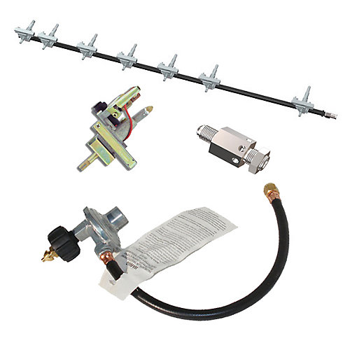 Propane Gas Conversion Kit with 5 Burner Grill with Rotisserie, Infrared and Side Burner for President's Choice Gas Grill Models