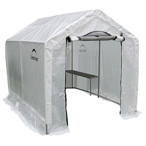 GrowIT Backyard 6 ft. x 6.5 ft. Steel Framed Polyethylene Fabric Greenhouse