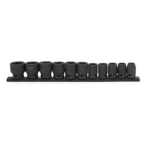 1/2-inch Drive Standard SAE Impact Socket Set (11-Piece)