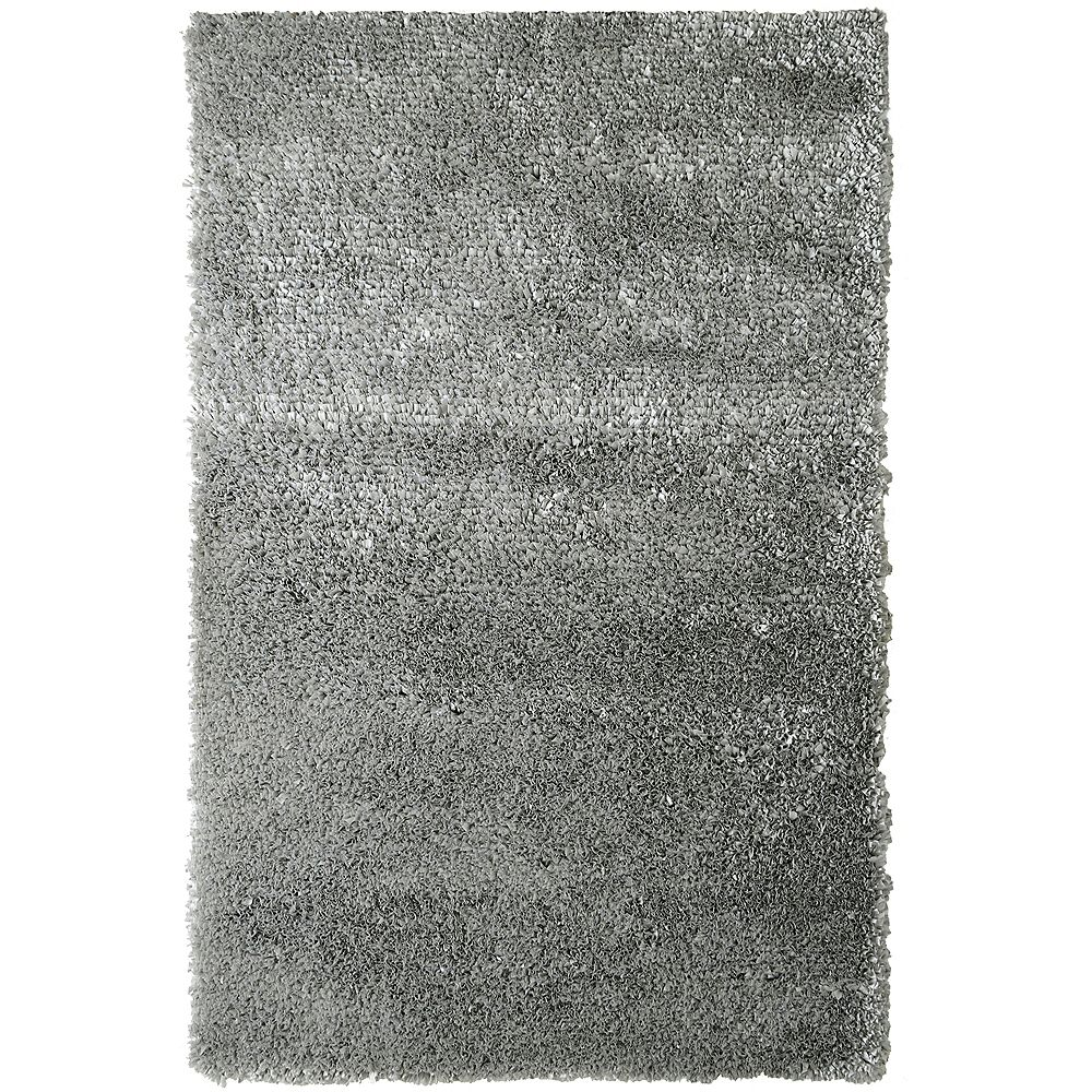 Lanart Rug Carpette d'intérieur, 9 pi x 10 pi, à poils longs, rectangulaire, gris Tulip