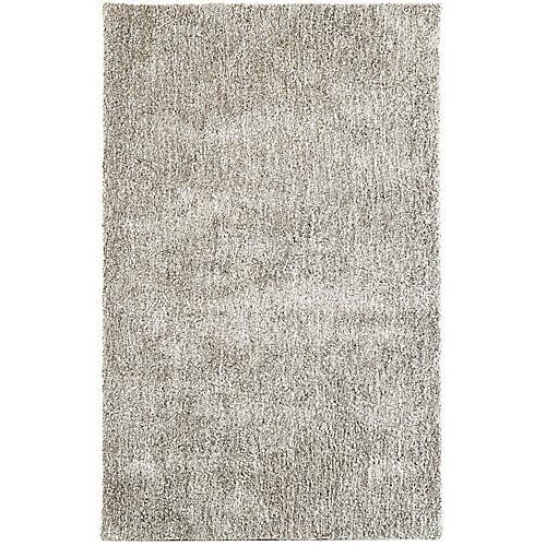 Carpette d'intérieur, 9 pi x 10 pi, style contemporain, rectangulaire, brun Heather