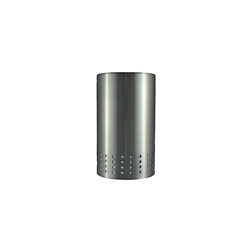 Brushed Nickel Cylinder Shade 2 1/4 Inch