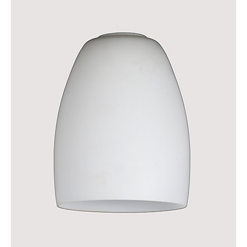White Frosted Glass Shade 2 1/4 Inch