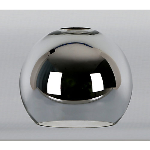 Chrome Metal Globe Shade 2 1/4 Inch