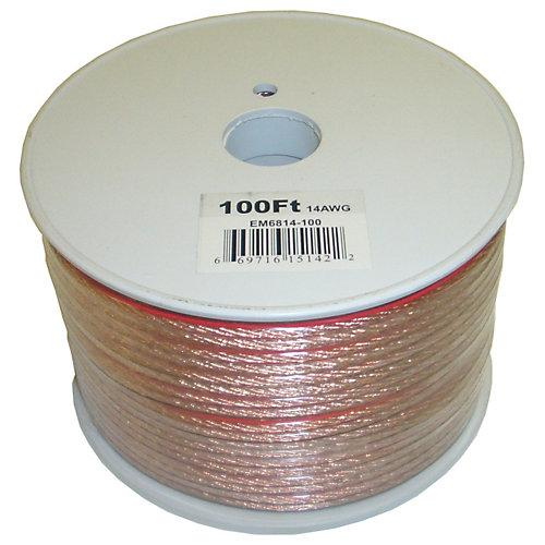 100 Feet 2 fils Speaker Cable avec 14 Gauge