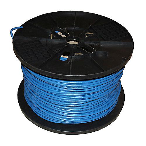 Câble paire torsadée non blindé bleu 24-4 de catégorie 6 de 1000 pieds avec calibre FT4