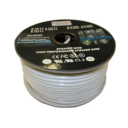 250 Feet 4 Wire Speaker Cable with 14 Gauge