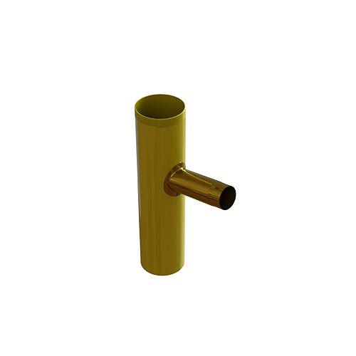 Brass threaded Dishwasher Tailpiece - 1/2 inch Clamp