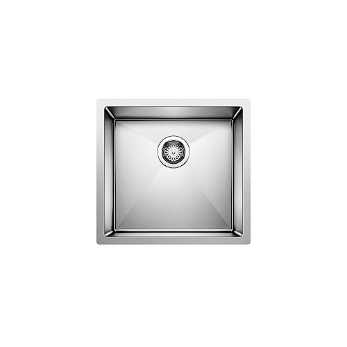 Blanco RADIUS 10 U, Single Bowl Undermount Kitchen Sink, Premium Stainless Steel