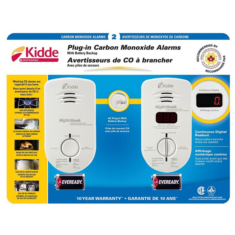 Kidde Plug-In CO Alarm (2-Pack)