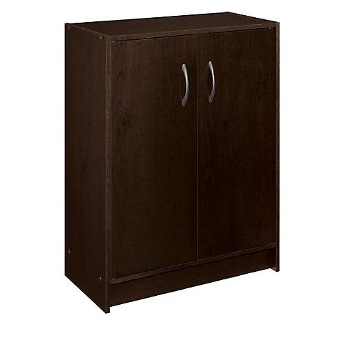 30 inch H x 24 inch W x 12 inch D Espresso Raised Panel Wall Storage Cabinet