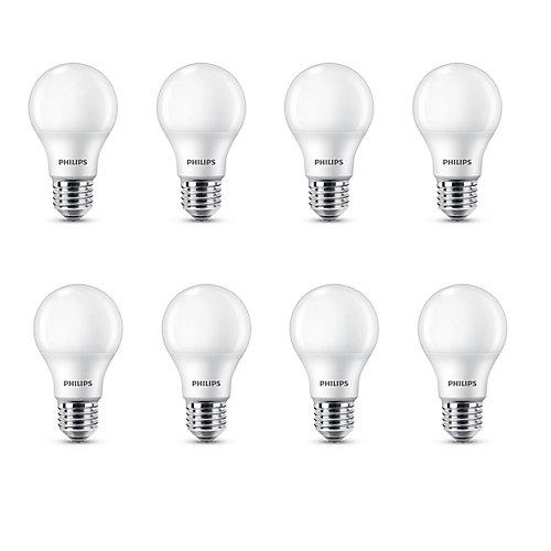 60W Equivalent Soft White (2700K) A-Line (A19) LED Light Bulb (8-Pack)
