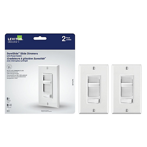 SureSlide Universal Slide Dimmer With Preset, (2-Pack)