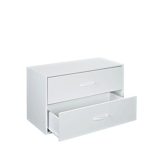 ClosetMaid 24.13 in. W x 15.75 in. H White Stackable 2-Drawer Organizer