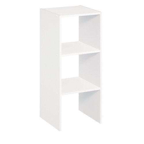 31 inch H Vertical Organizer White
