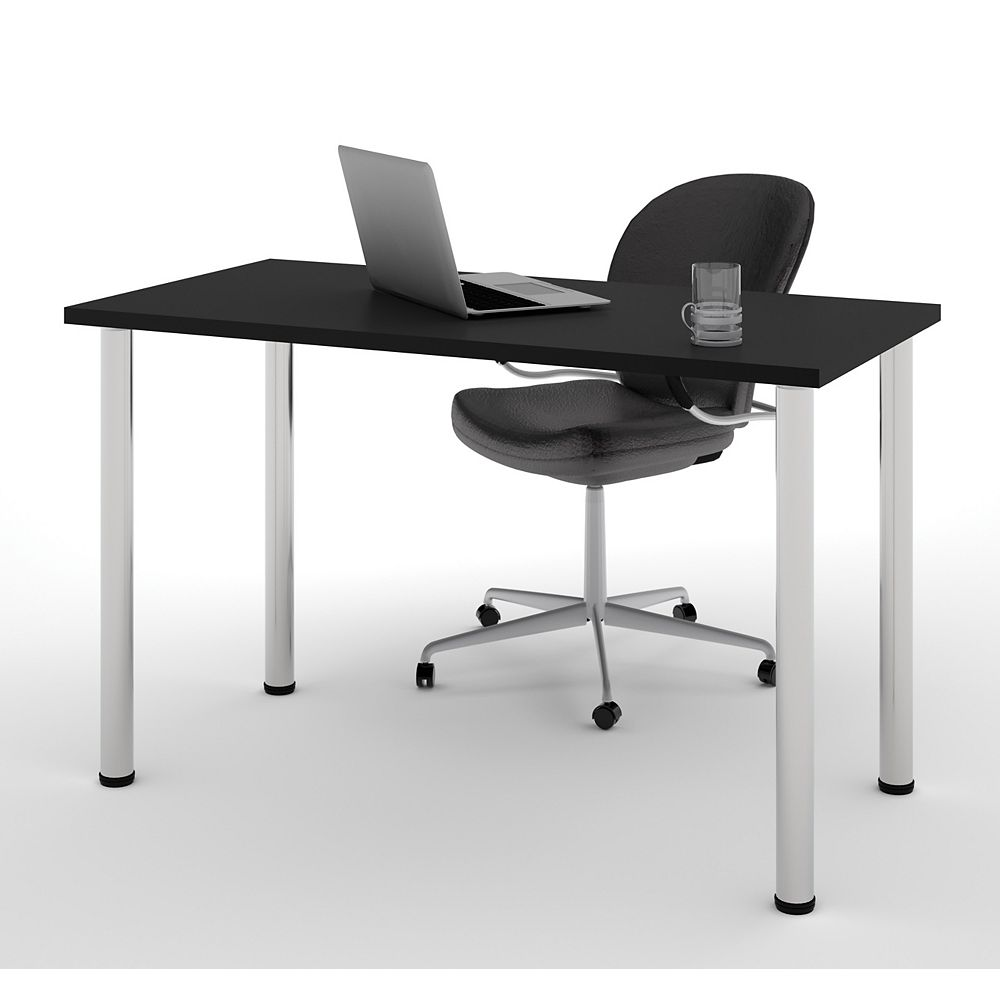 Bestar 47.6-inch x 29-inch x 24-inch Standard Computer Desk in Black