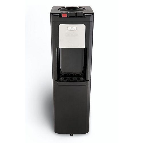 Refroidisseur d'eau à chargement par le haut noir avec vrai stockage par le bas réfrigéré.