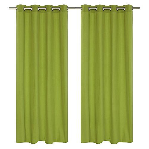 """paire de rideaux en 54x95"""" Vert chartreuse"""