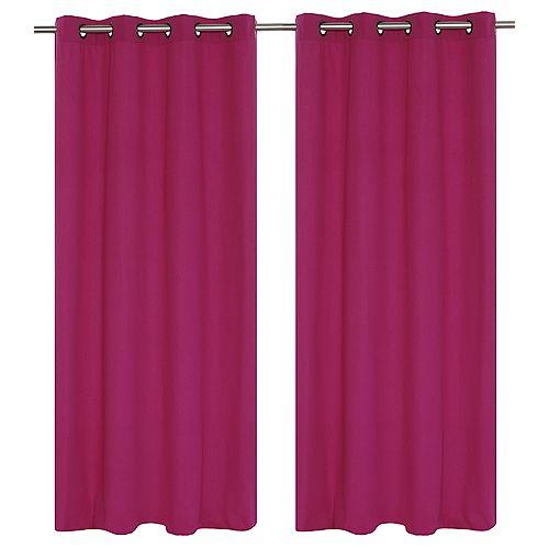 """paire de rideaux en 54x95"""" Magenta"""
