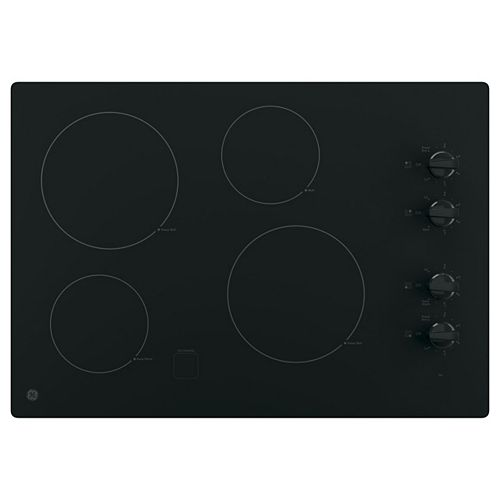 30-inch Electric Cooktop in Black with 4 Elements