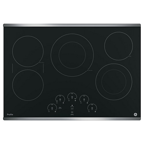 30-inch W Smoothtop Electric Cooktop with 5 Elements in Stainless Steel