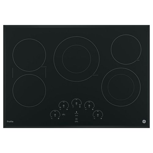 30-inch Electric Cooktop in Black with 5 Elements