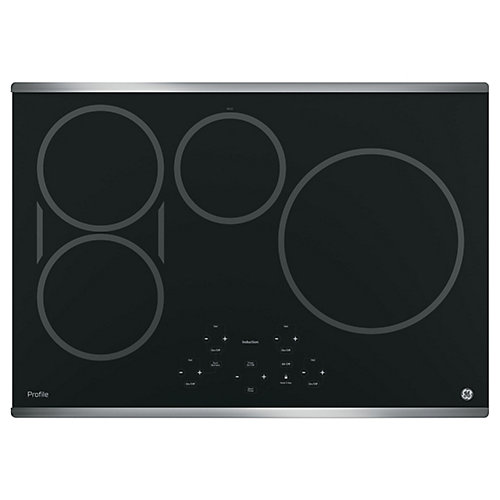 "30"" Induction Cooktop in Stainless Steel with 4 Elements inluding 11"" Element"
