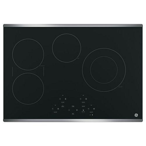 Table de cuisson électrique radiante de 30 po W à 4 éléments en acier inoxydable
