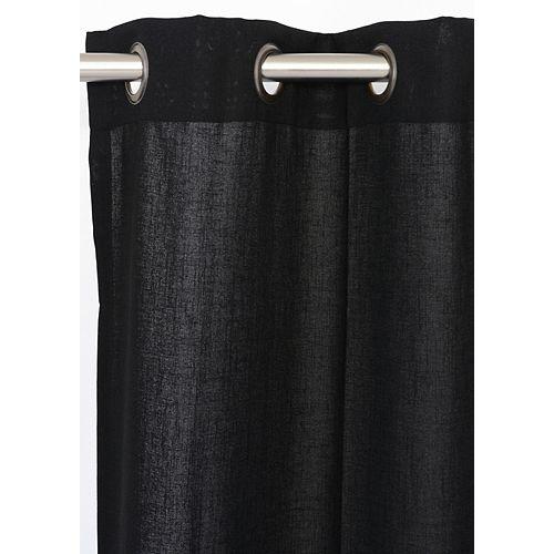 Maestro panneaux à oeillets faux lin (une paire)  54 x 95 po, noir