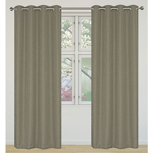 Eclipse ensemble de 2 rideaux à illets assombrissants 52x95 po, brun clair