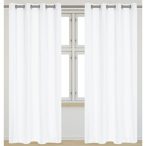 Karma panneaux de rideaux à oeilletsen faux coton (Ensemble de 2)