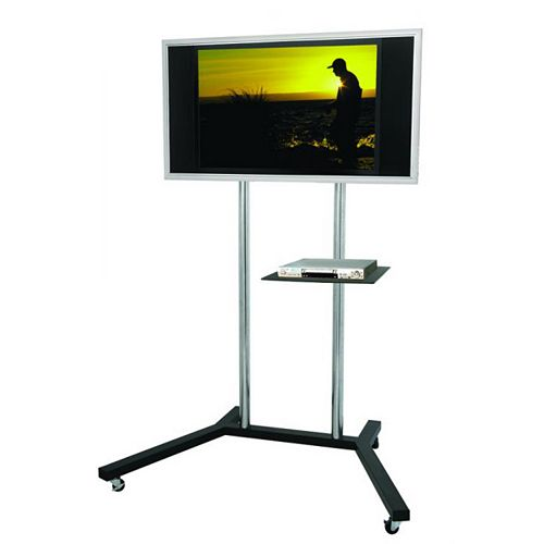 Mobile 68.9-inch x 33.9-inch x 53.2-inch TV Stand in Black
