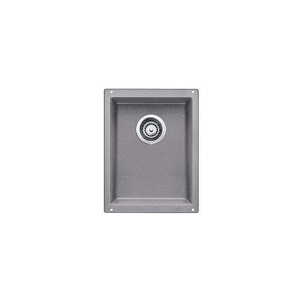 Blanco Évier de bar à montage sous plan et à une seule cuve PRECIS U .75, SILGRANIT gris métallique