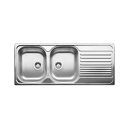 TIPO 8S Stainless Steel Equal Double Bowl Drop-in Kitchen Sink  (LH Bowl)